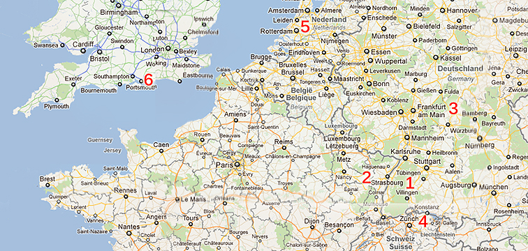From Germany To Pennsylvania Journey Of The Clear Family - Germany map key